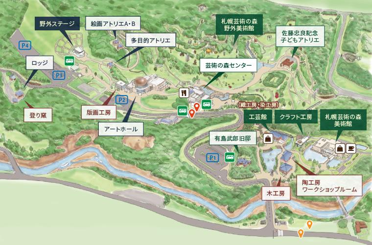 SAPPORO ART PARK / PARK MAP