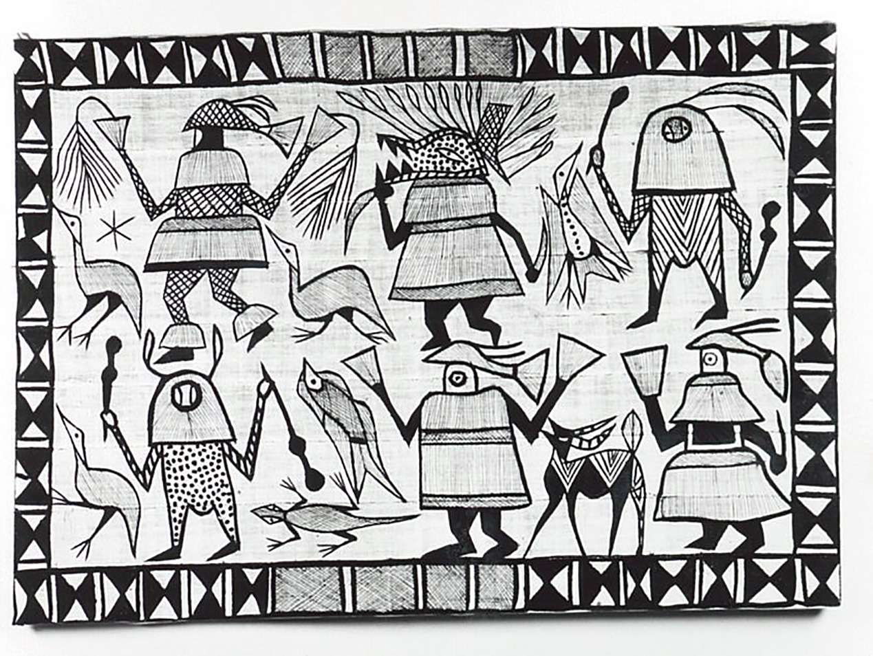 アフリカセヌフォ族の絵布