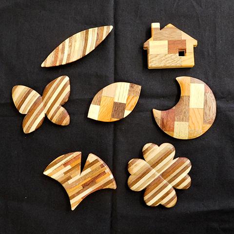 ~生活を彩る~寄木細工のブローチをつくる
