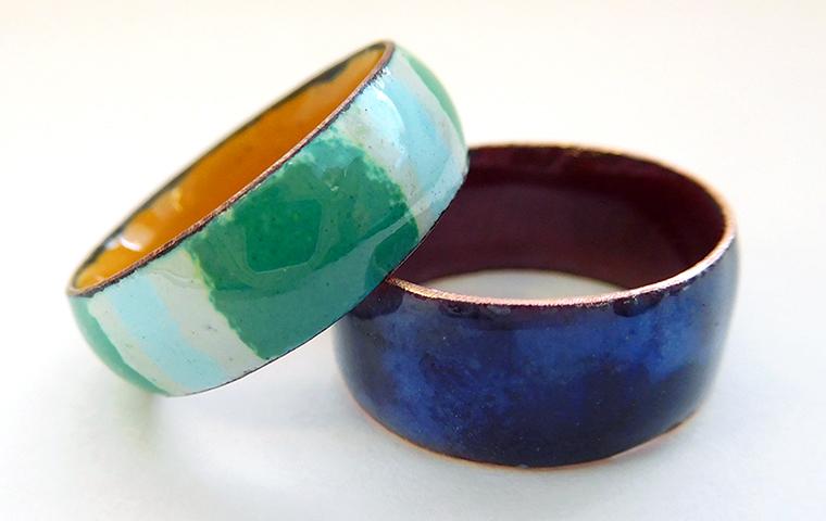 七宝焼の指輪づくり