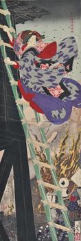 松竹梅湯嶋掛額 明治18年(1885) 大判錦絵竪二枚続
