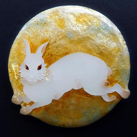 月と玉兎のブローチづくり~「月光ノ絵師 月岡芳年」連動企画~