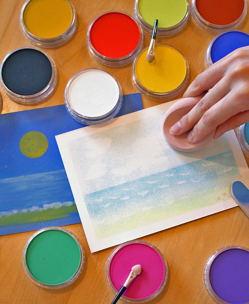 パンパステルで描く海