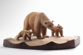 《白熊の親子》