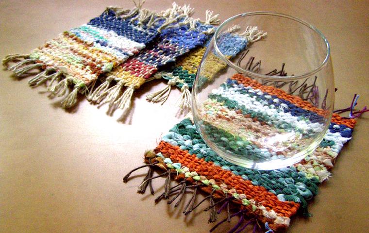 【雪あかりの祭典】裂き織りでカラフルなコースターづくり