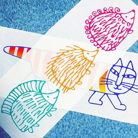 リサ・ラーソン展連動講習会・シルクスクリーンで手ぬぐいプリント(6月) 【体験・学び】