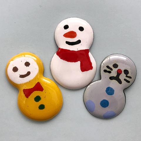*雪あかりの祭典* 七宝焼でゆきだるまブローチをつくろう!