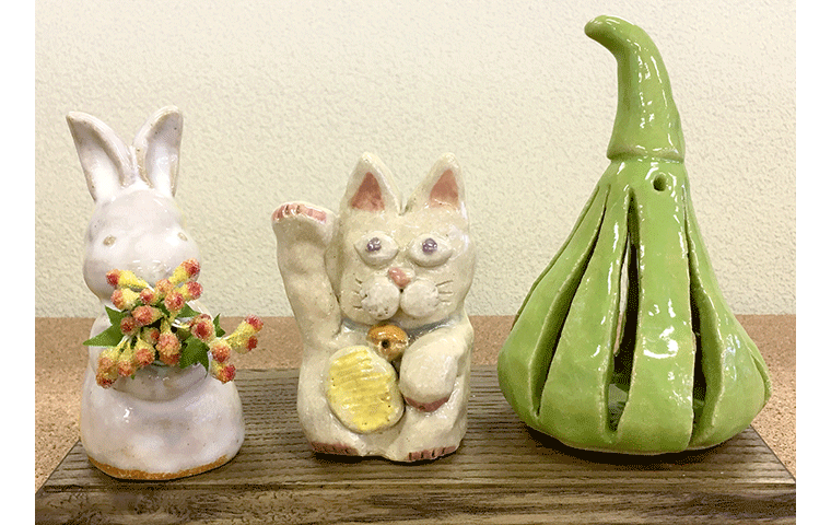 かわいい陶器のオブジェづくり