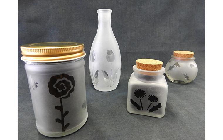 【芸森スプリングフェスタ】サンドブラストで小瓶に模様を描こう
