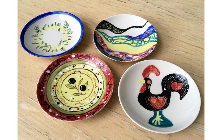 《バルセロナ展コラボ企画・陶芸》 飾り絵皿の絵付け体験