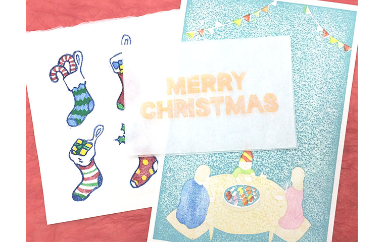 木版画でつくるクリスマスカード 3日間コース
