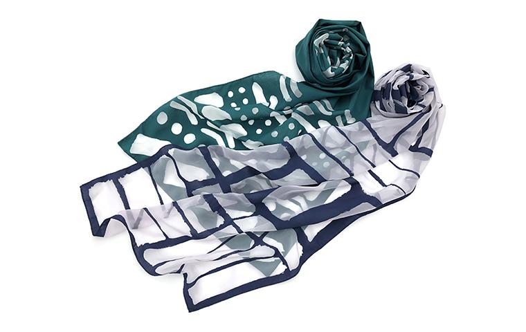 オパール加工で透かし模様を描く