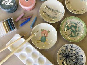 てのひら小皿に絵付け体験イメージ図