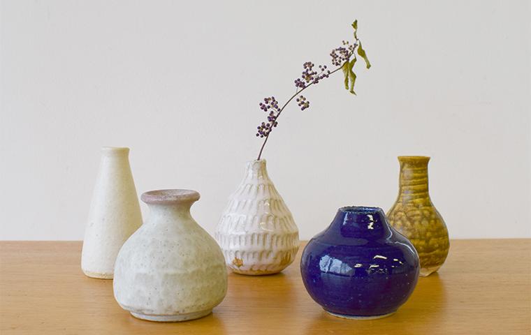 陶器でつくるフラワーベース