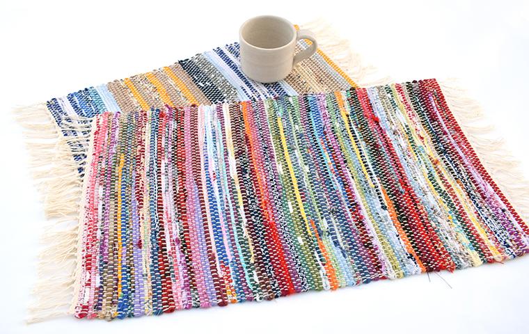 裂き織りでテーブルマットをつくる