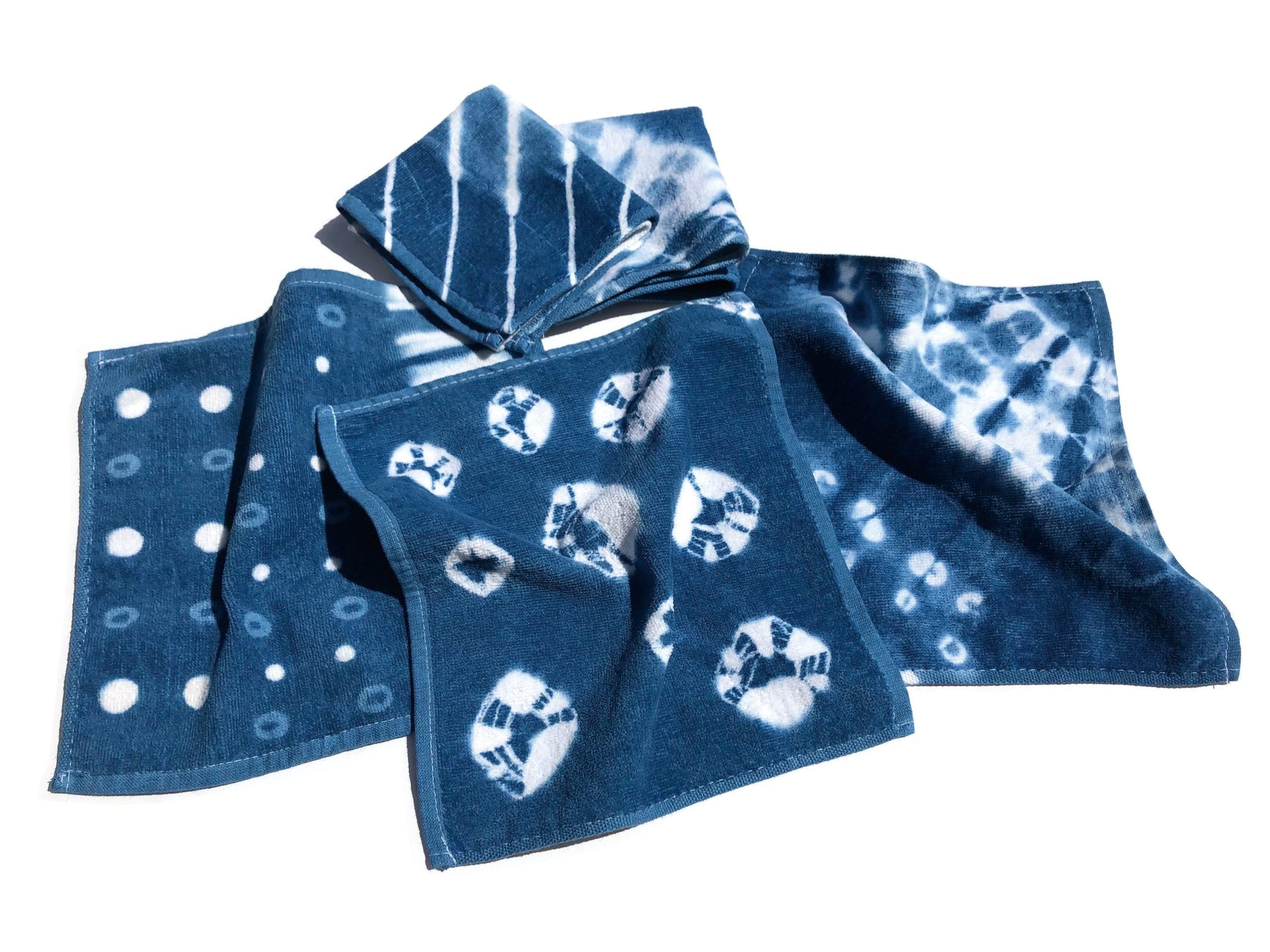 藍染めでハンドタオルを染めよう